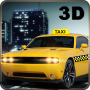 icon City Taxi Car Duty Driver 3D