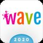 icon Wave Keyboard Background - Animations, Emojis, GIF