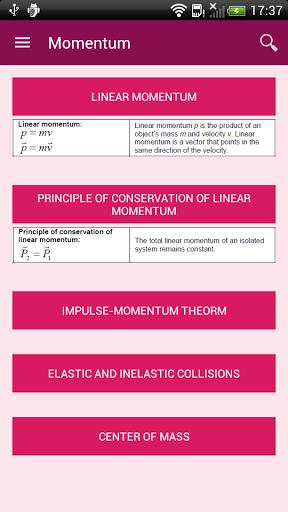 Hoja de Fórmula Física
