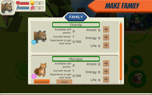 Simulador de Cougar: Big Family Family Game