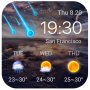 icon Galaxy live weather clock