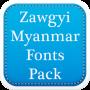 icon Zawgyi Myanmar Fonts Pack